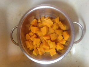 drained boiled sweet potatoes