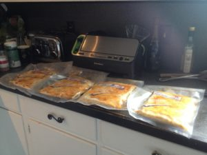 4 vacuum sealed pacs of butternut squash Lasagna