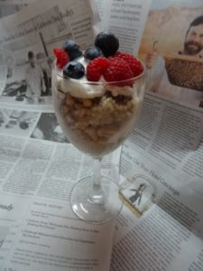 oatmeal sundae and the NYSunday Times