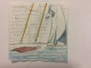 Watercolor, graphite & text $300