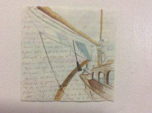 #2 Watercolor, graphite & text $300