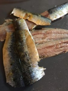 filleted sardines
